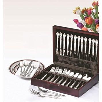 65 Pc Stainless Steel Flatware Cutlery Set for 12 Churchill Colonial Service