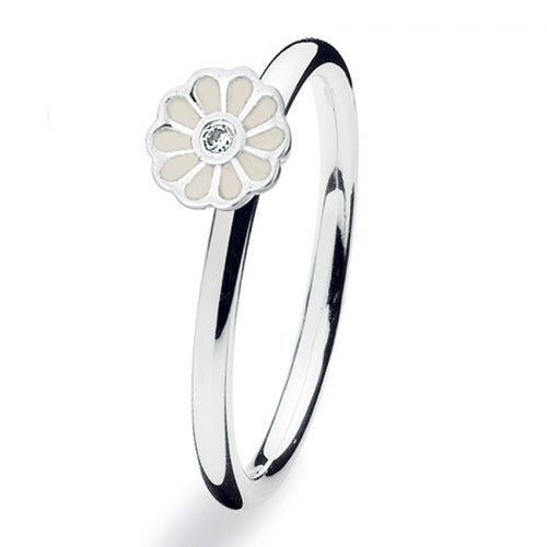 NEW Genuine Spinning Jewelry Stackable Silver Ring 149-08