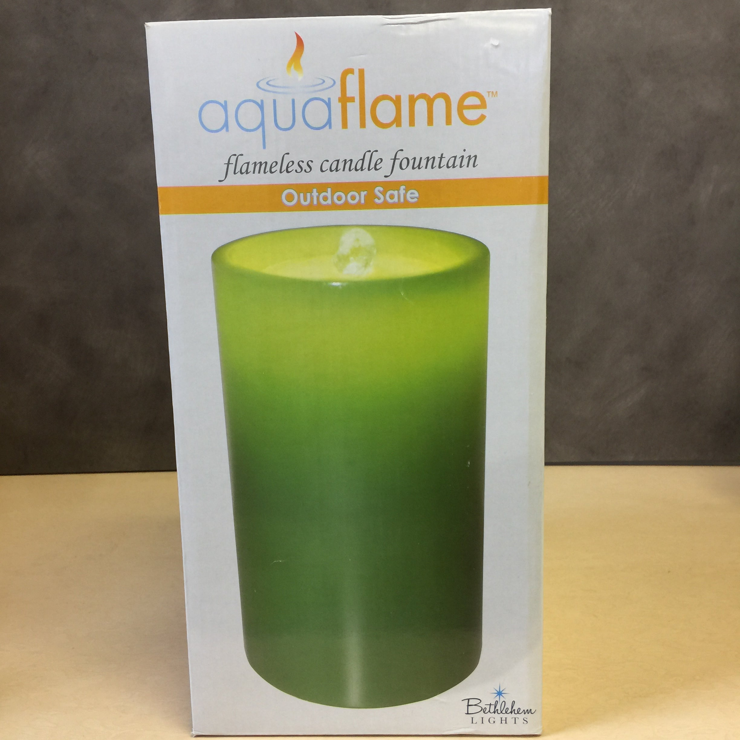 New Bethlehem Lights 8 5 Quot Aqua Flame Flameless Candle
