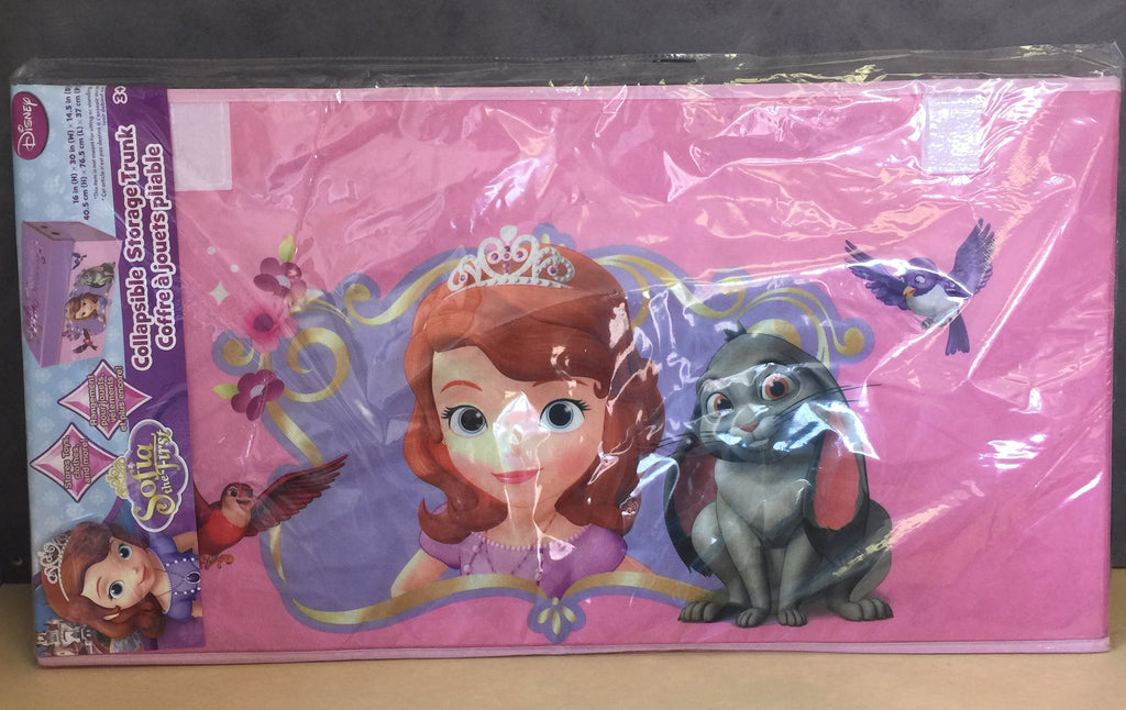 NEW, Disney Sofia the First Oversized Soft Collapsible Storage Toy Trunk *PickupOnly