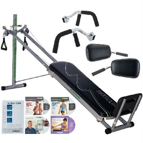 Total Gym Supreme with Six Attachments & Four DVDs *PickupOnly