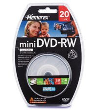 Disc DVD-RW 1.4GB Mini 20/pk Spindle/blister
