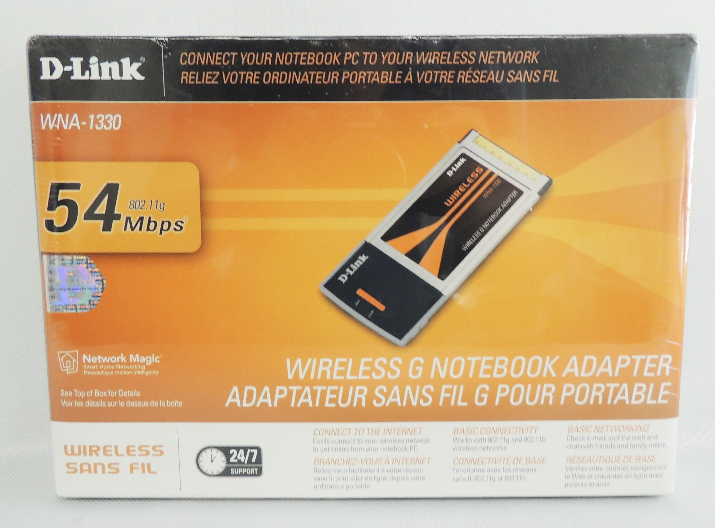 D-link WNA-1330 802.11g/b Wireless Adapter 54Mbps Wireless for laptop