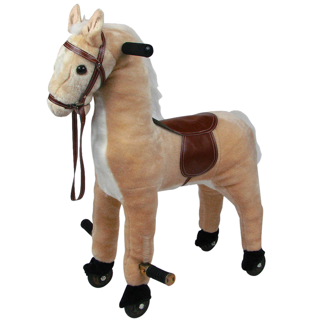 Happy Trails Ride-On Walking Horse in Brown (damaged box) *PickupOnly - F