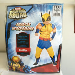 Marvel Super Hero Squad X-men Muscle Wolverine Halloween Toddler Size 3-4