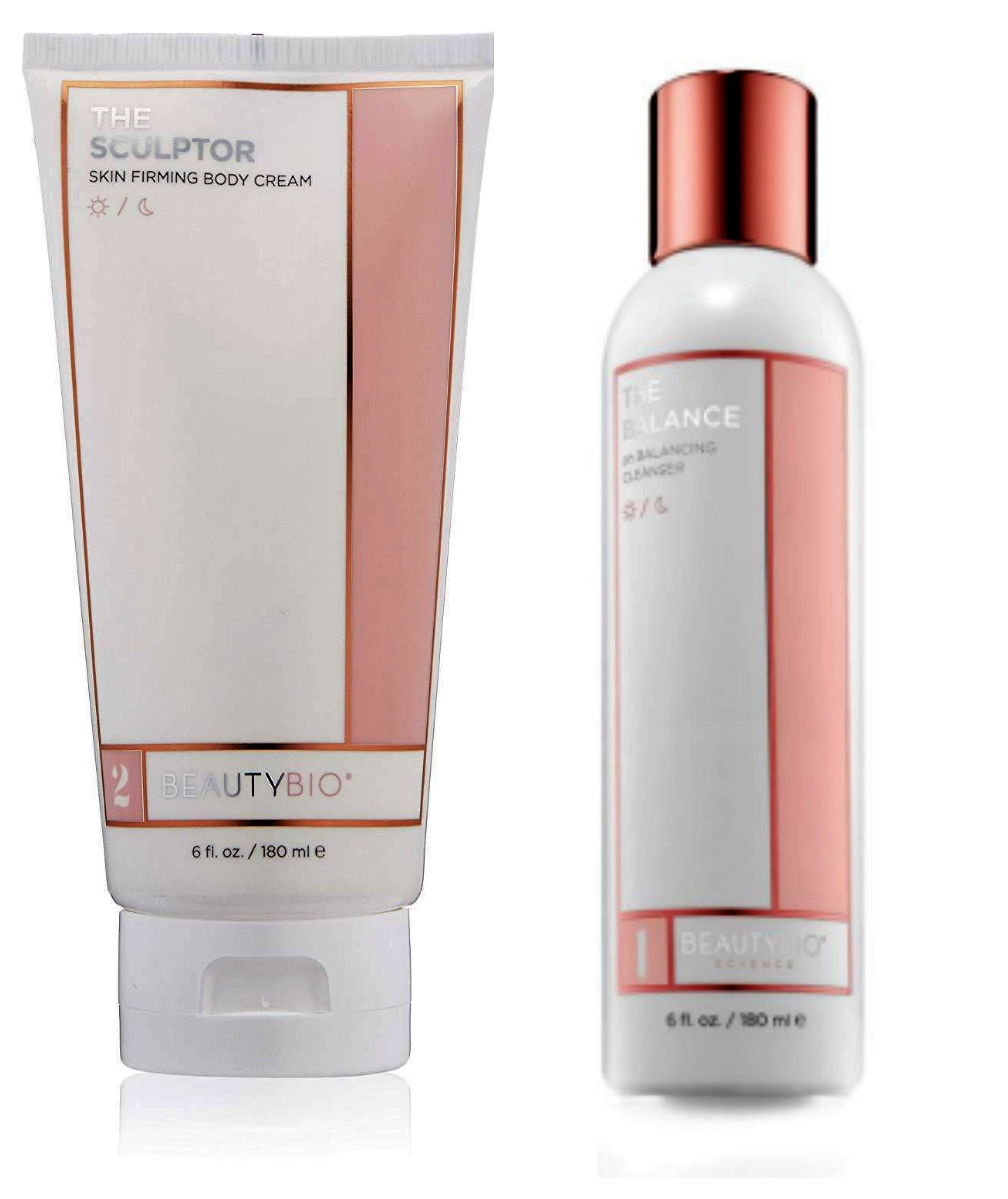 COMBO DEAL BeautyBio The SCULPTOR & The BALANCE Ph Balancing Cleanser