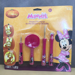 Disney Minnie Pumpkin Carving Kit 1 Set 4 Tools, 7 Patterns for Ages 9 and up