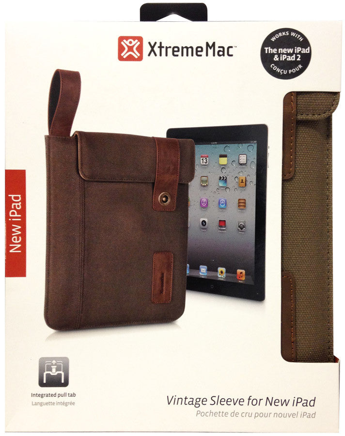 XtremeMac Vintage Sleeve For iPad 2/3/4 - Brown - PAD-VSL-53 - LiquidationOutlet.ca