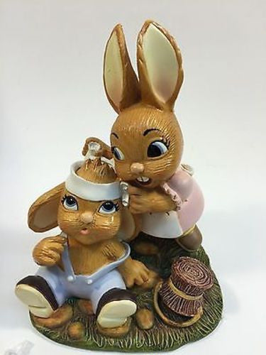 NEW, PEN DELFIN JACK AND JILL RABBIT FIGURINE