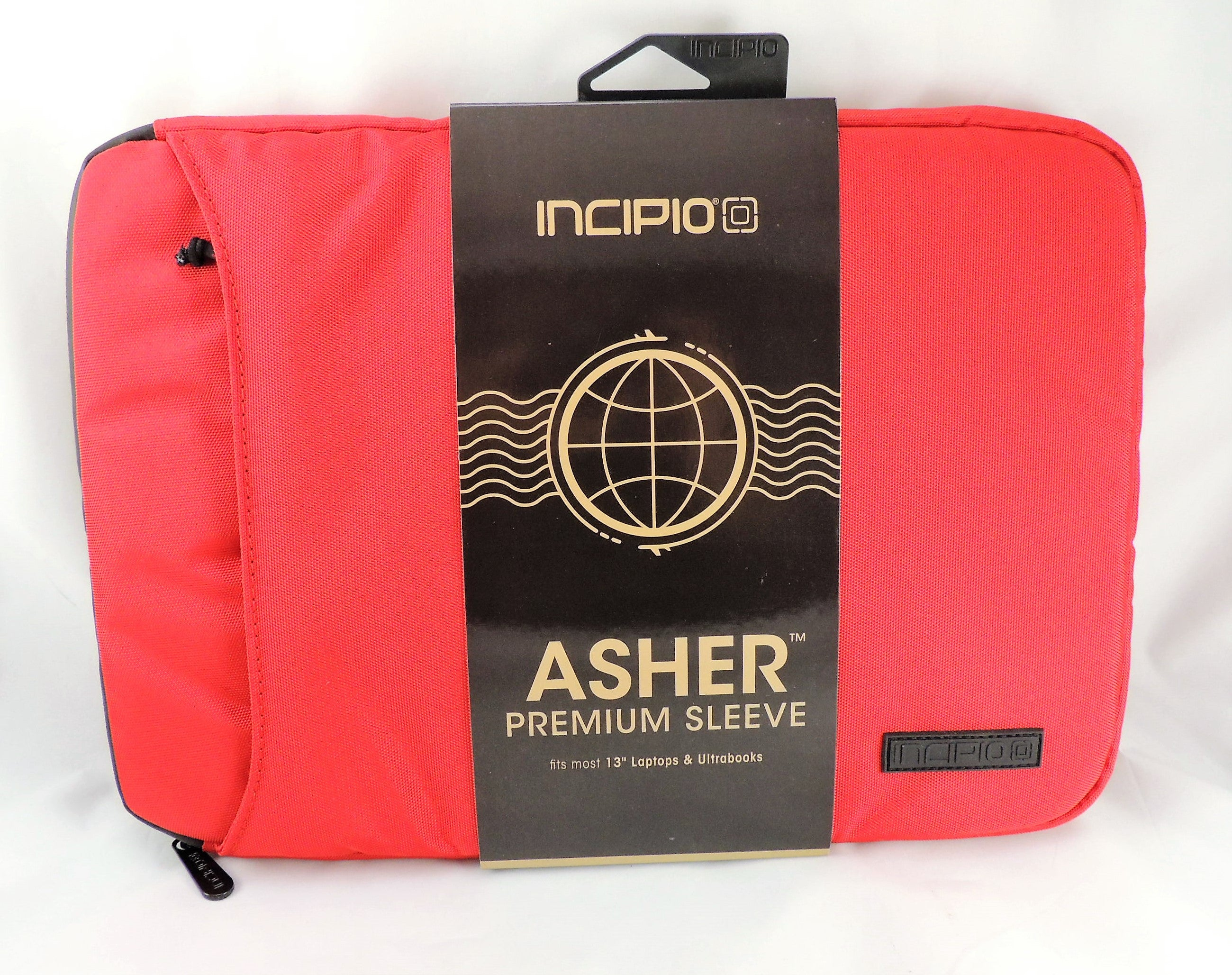 Incipio Asher 13 Inch Premium Tablet Laptop Sleeve Macbook Pro Surface 3 (Red)