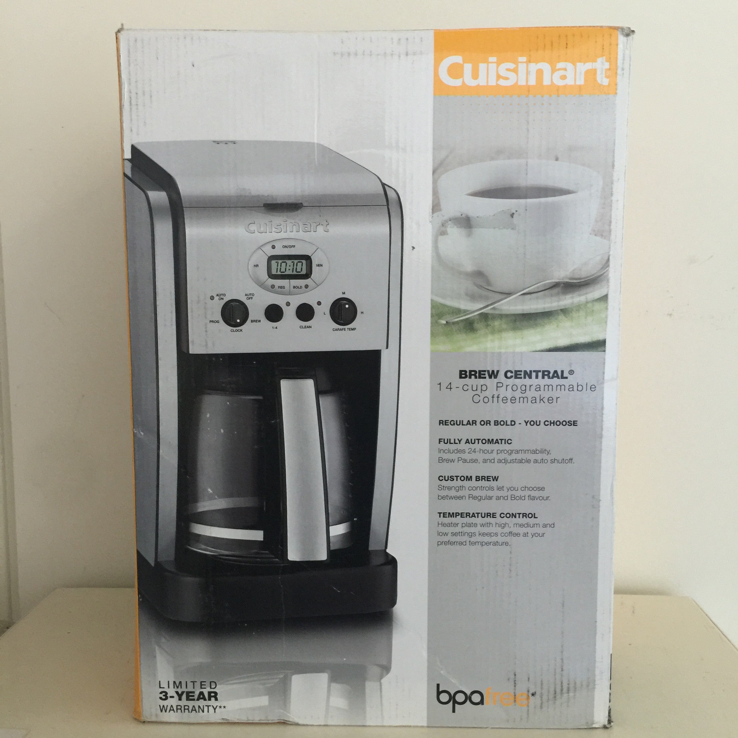 Cuisinart CBC-14 Brew Central 14-Cup Coffeemaker - Chrome - Refurbished