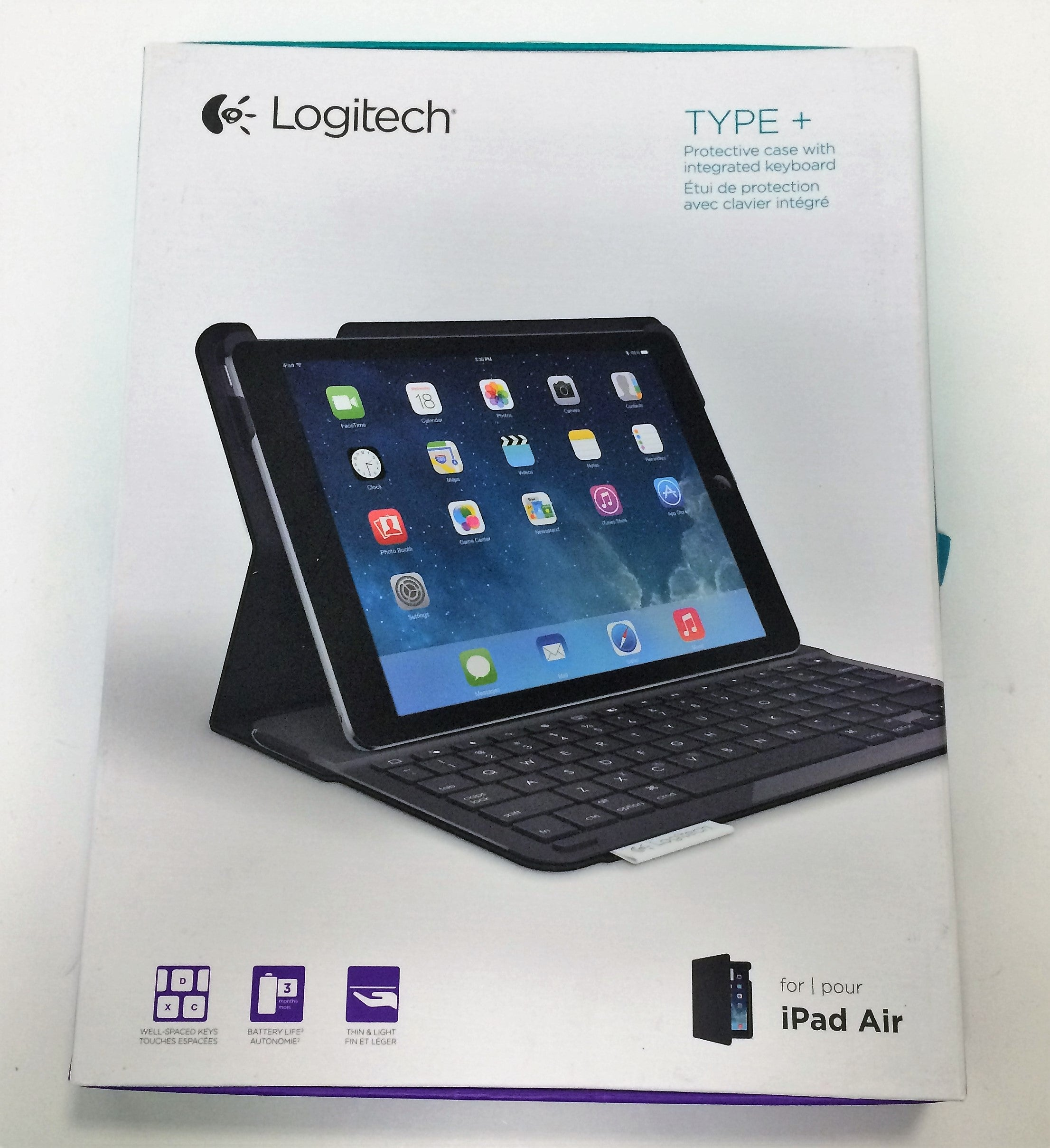 Logitech -Type+ Keyboard Case for Apple iPad Air - Carbon Black Model:920-006909