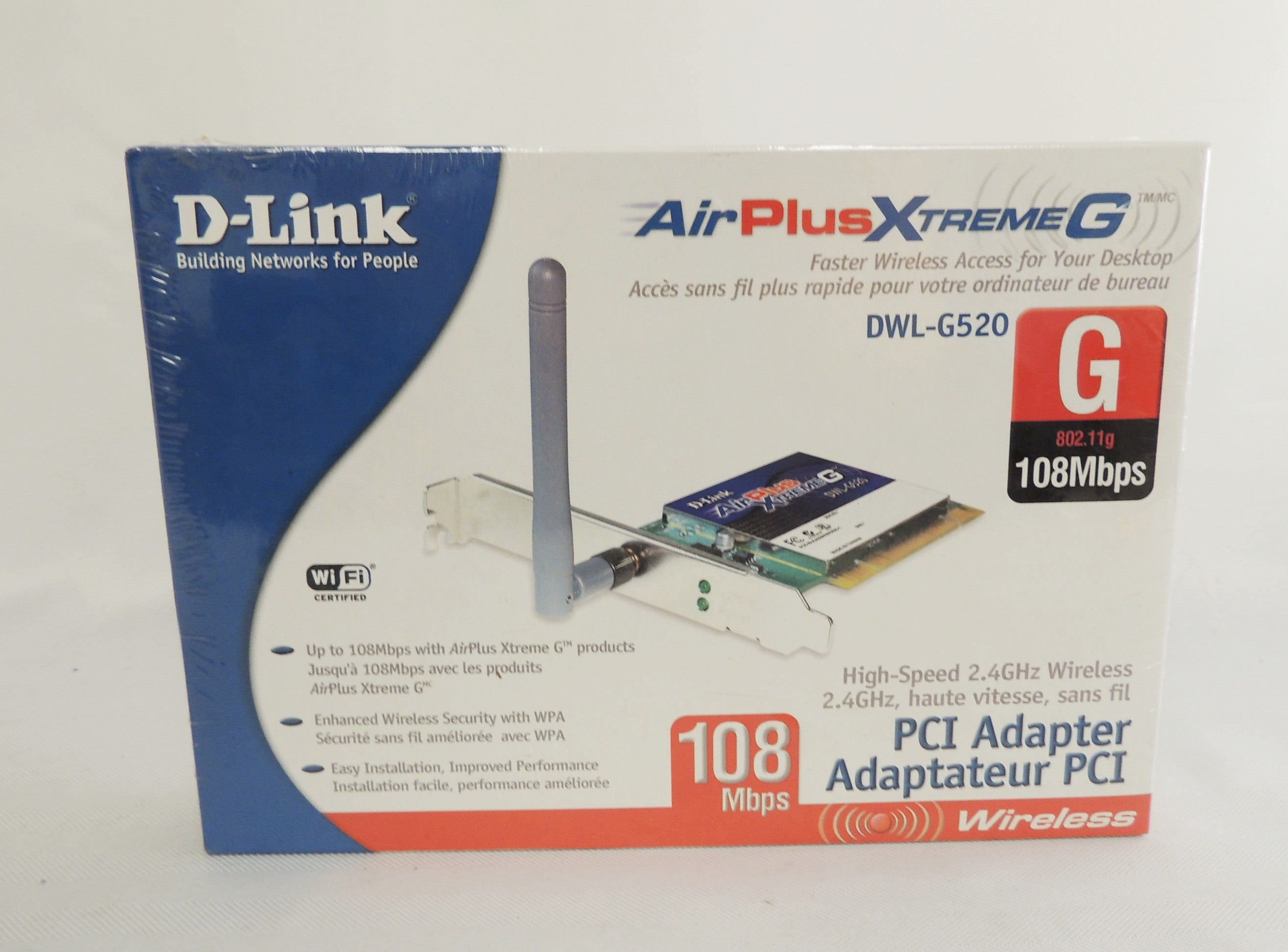 D-Link | airPlus ExtremeG | DWL-G520 Wireless Card without the antenna.