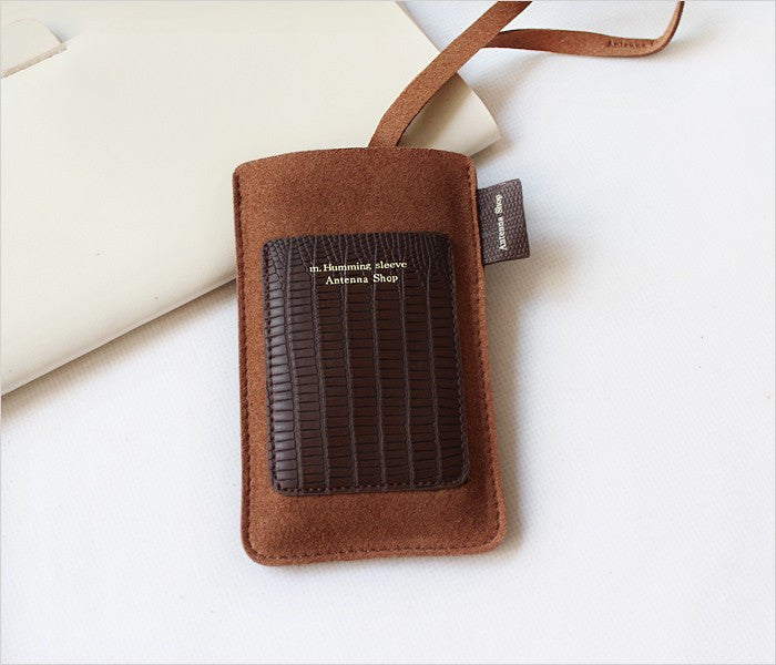 Antenna Shop Sleeve Case for iPhone Brown