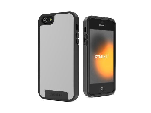 Cygnett CY0865CPAPO Apollo Case for iPhone 5 - 1 Pack - Carrying Case - White/Grey