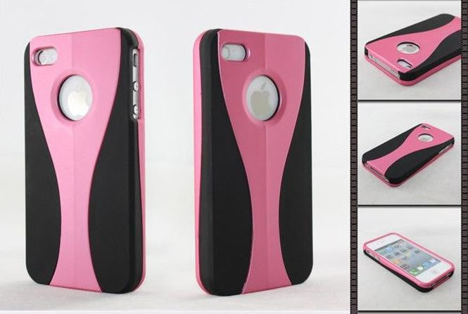 Three-Piece Black Case For Apple iPhone 4 / 4S - light pink - LiquidationOutlet.ca