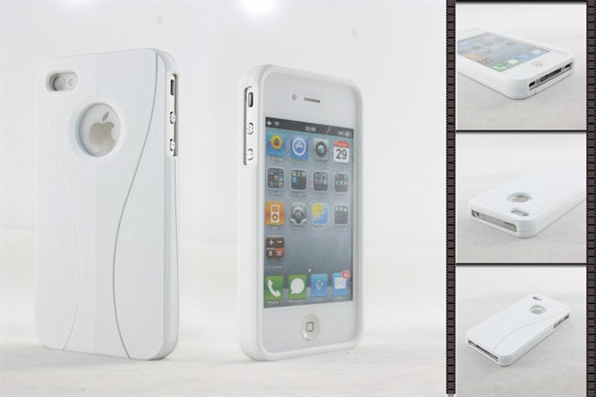 Three-Piece White Case For Apple iPhone 4 / 4S - white - LiquidationOutlet.ca