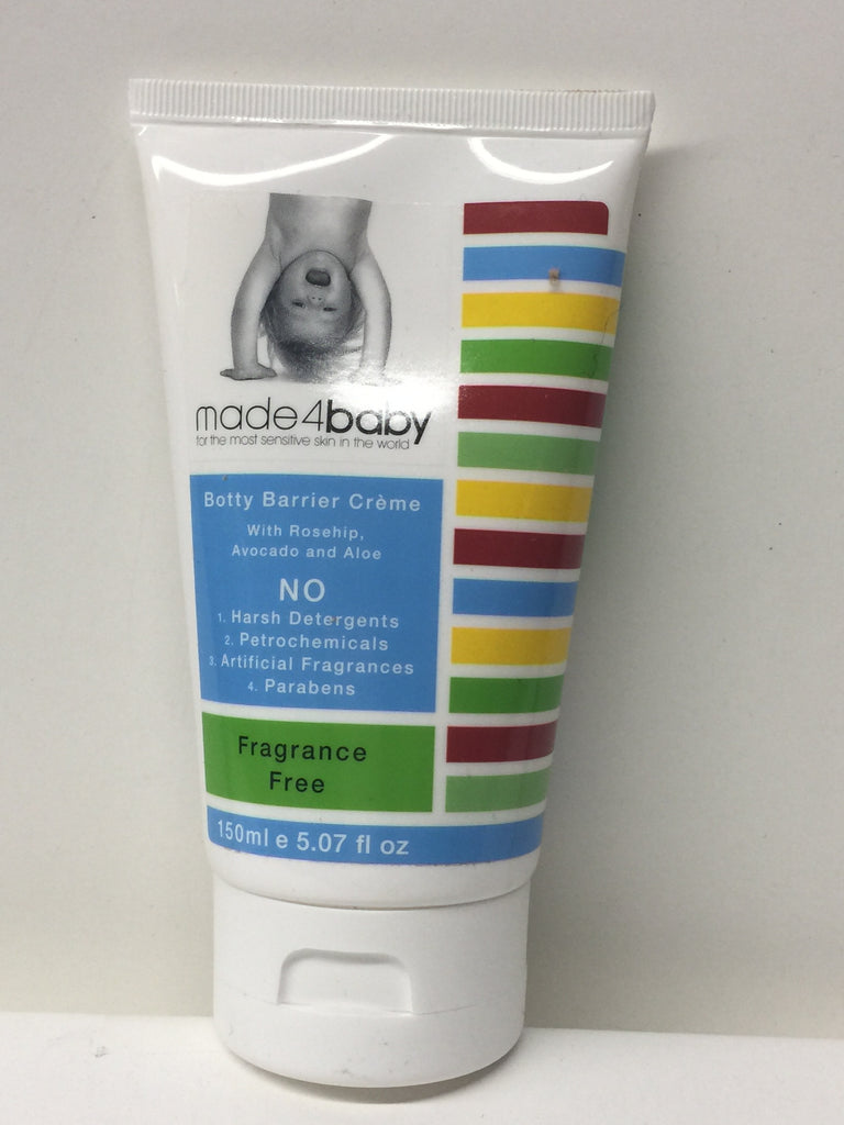 Made4baby Organic Skincare for Botty Barrier Creme Fragrance Free- 150 ml / 5.07 oz