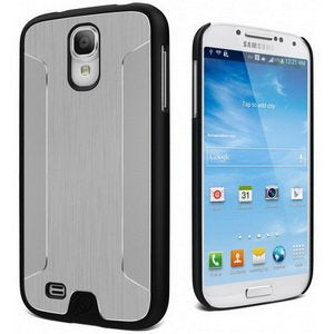 Cygnett UrbanShield Brushed Aluminum PC/Metal Case for Galaxy S4 - 1 Pack - Retail Packaging