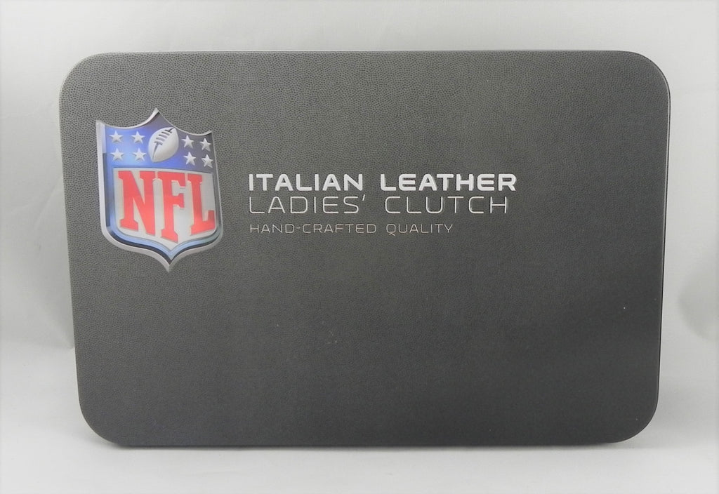 Women Leather Wallet Clutch Motorhead Products Italian Leather Nfl Clutch
