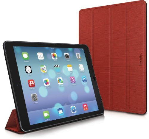 XtremeMac Microfolio iPad Air Medium Tones, Poppy Red (IPD-MF5-73) - LiquidationOutlet.ca