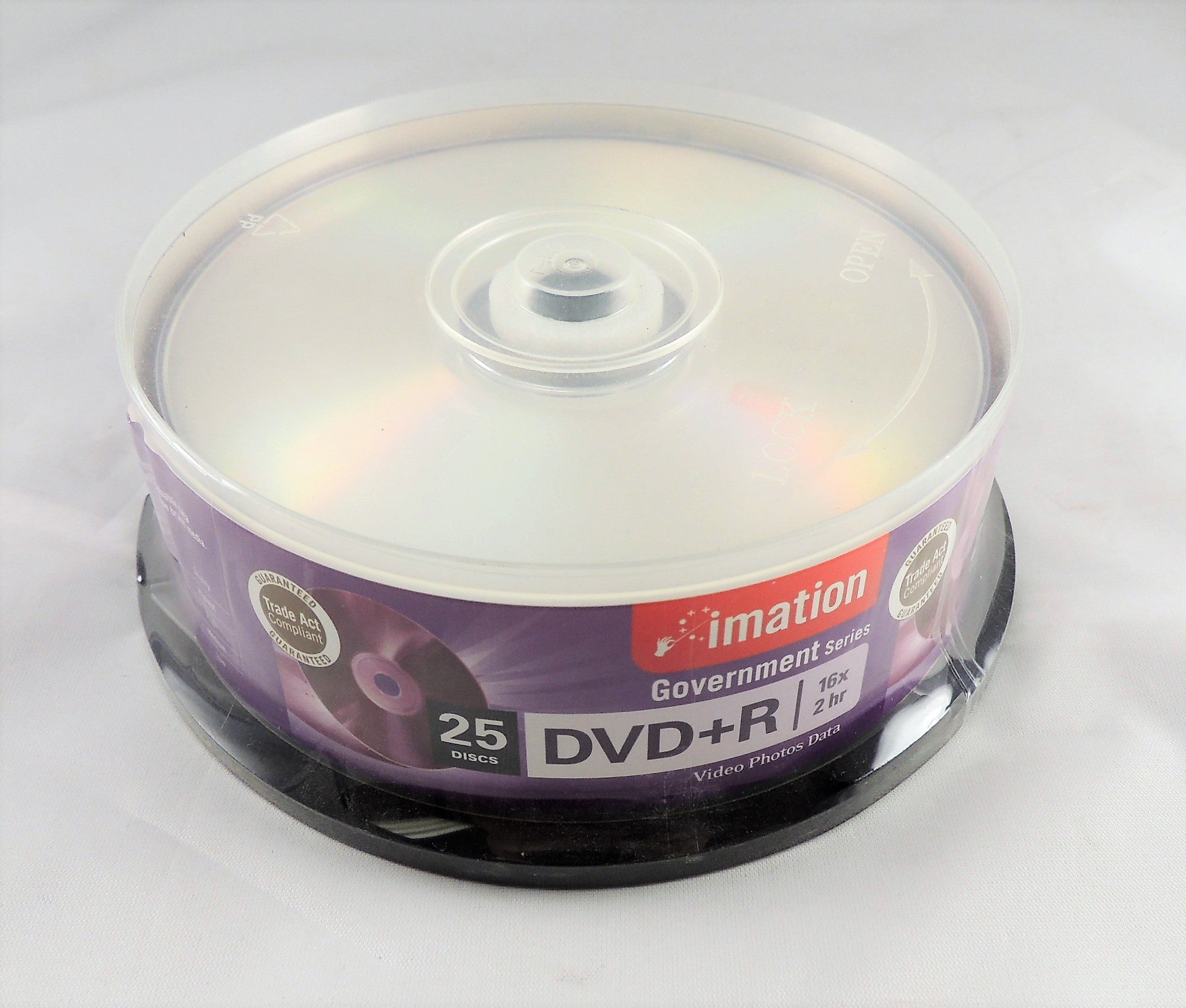 Brand New Imation Government Series DVD+R - 16x - 2 hr 25 Pk