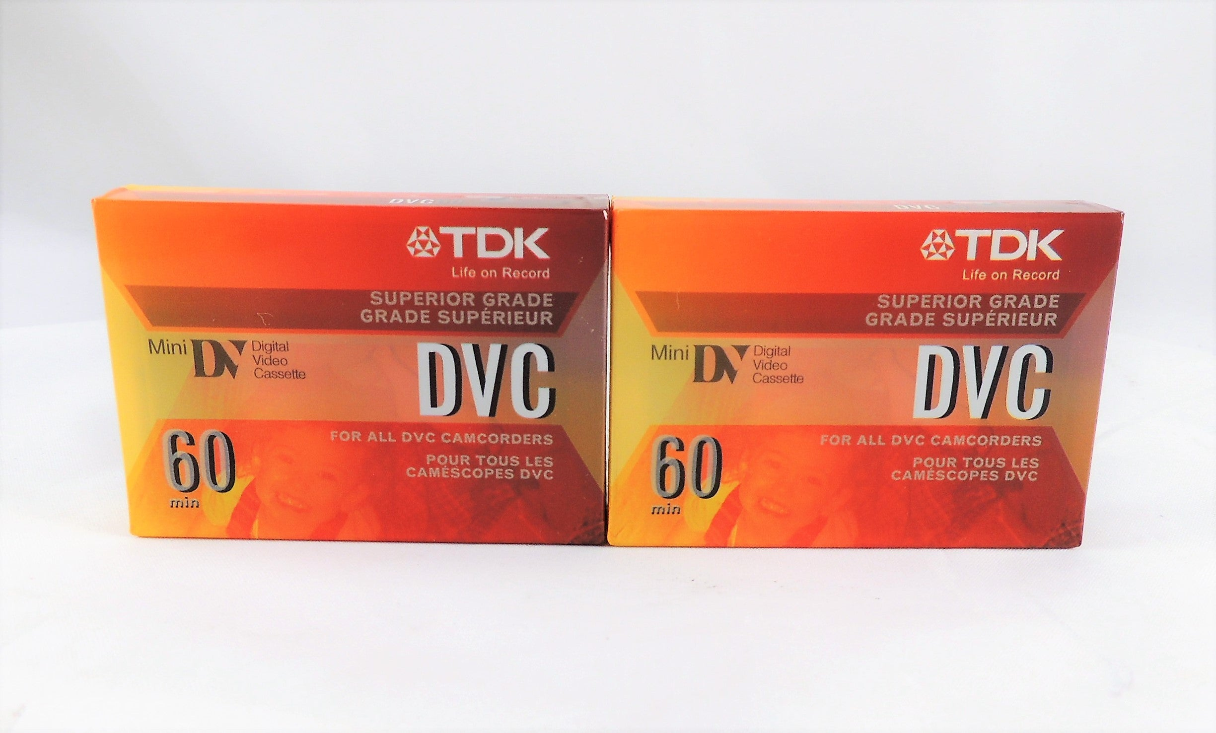 2Pk TDK Mini DVC 60 Minute DVM Digital Video Blank Cassette Tape DVC60 NEW