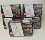 3 Pack Lutron White Electronics Skylark 600W Dimmers With Preset Switch S-600P-CP3-WH