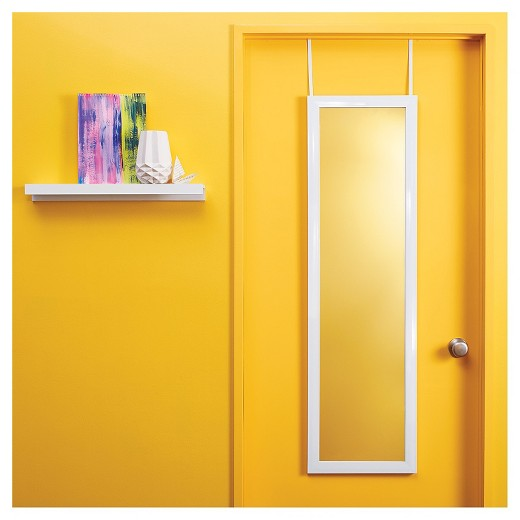 New, Over-the-Door Mirror - Room Essentials in White *PickupOnly - G