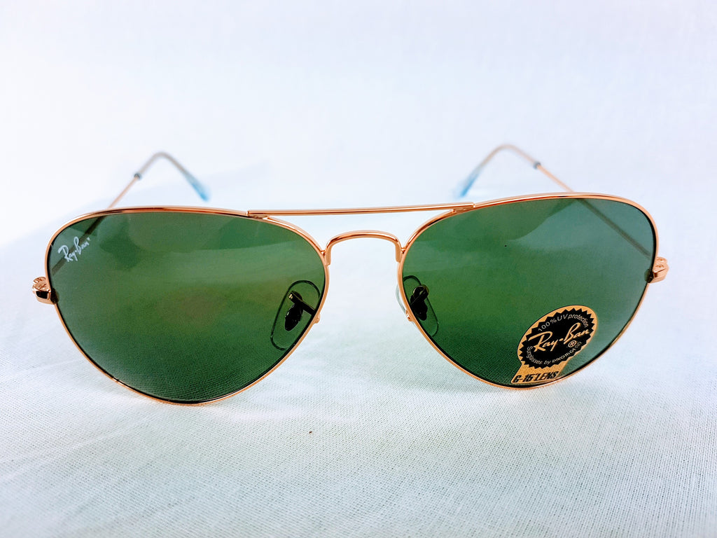 NEW Genuine Rayban Aviator 58mm Classic Green Sunglasses RB3025 L0205 58-14