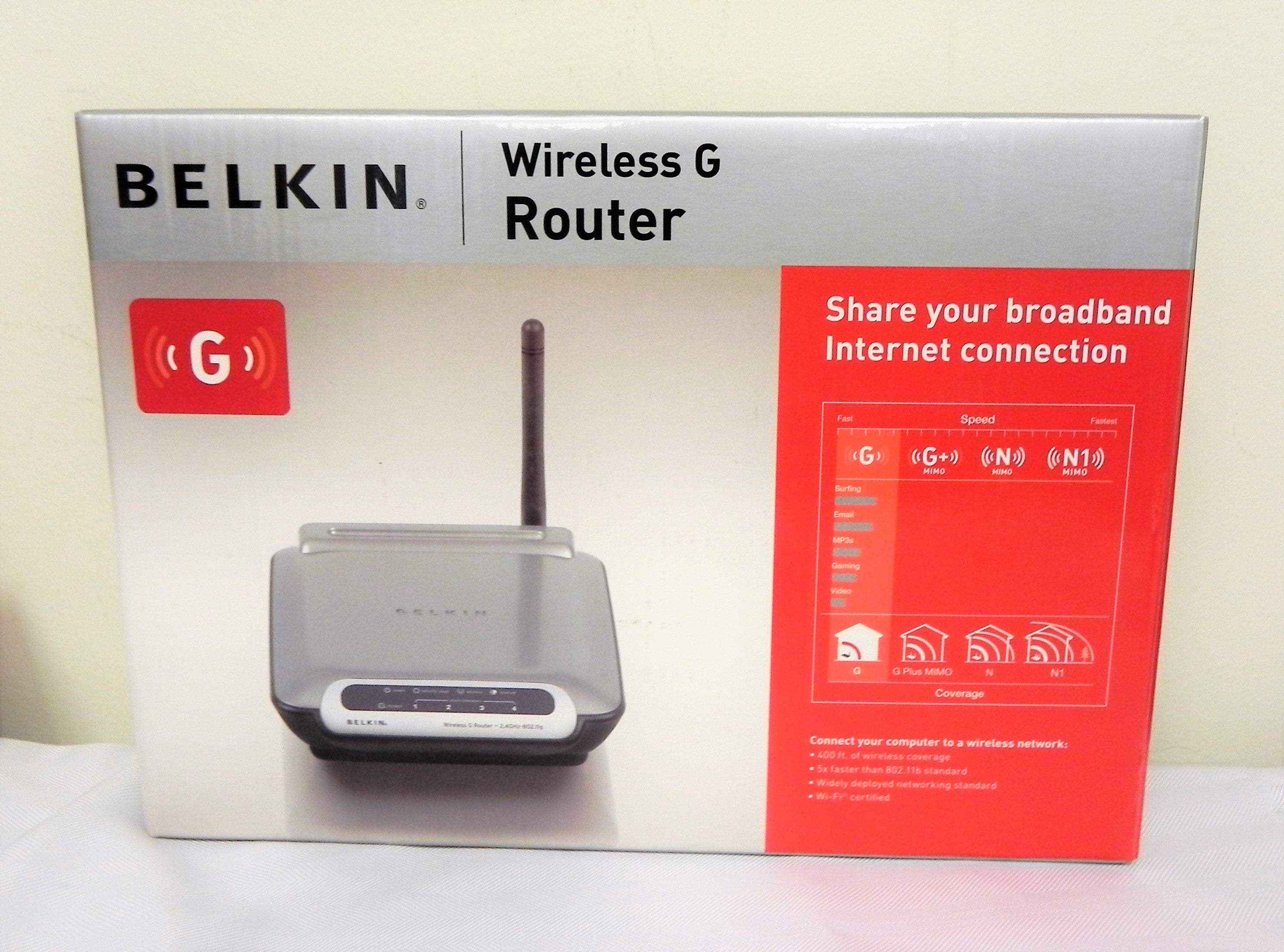 Belkin F5D7230-4 54 Mbps 4-Port 10/100 Wireless G Router