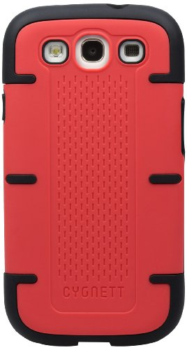 Cygnett CY0889CXWOR Workmate PC/Silicone Case for Samsung Galaxy S III - 1 Pack - Retail Packaging - Red