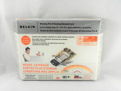 Brand New Belkin Wireless Pre-N Desktop Network Card F5D800tt