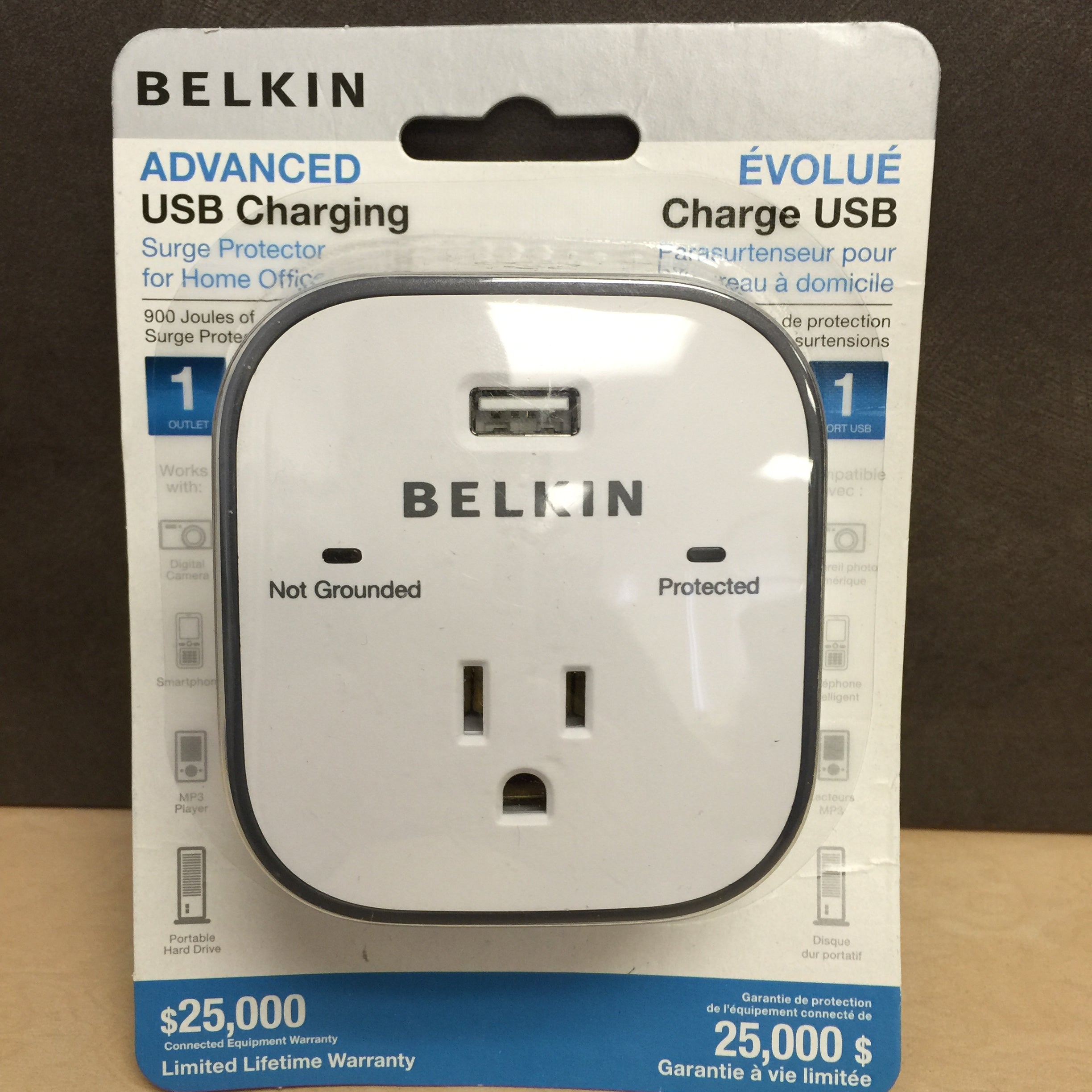 Belkin Surge Protector With Usb Charger 1 Outlets Charging Power Cord Wire Diagram Ports 900j
