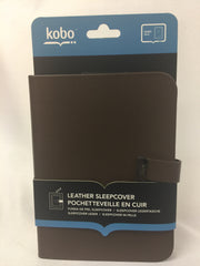 NEW, Kobo Glo Leather Sleep Cover Case - Brown
