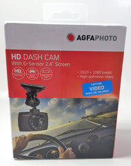 "AGFA 1080p Dash Cam With G-Sensor 2.4"" Screen and 8GB MicroSD Card"