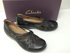 Clarks Women's Evianna Peal Flat Leather Shoes