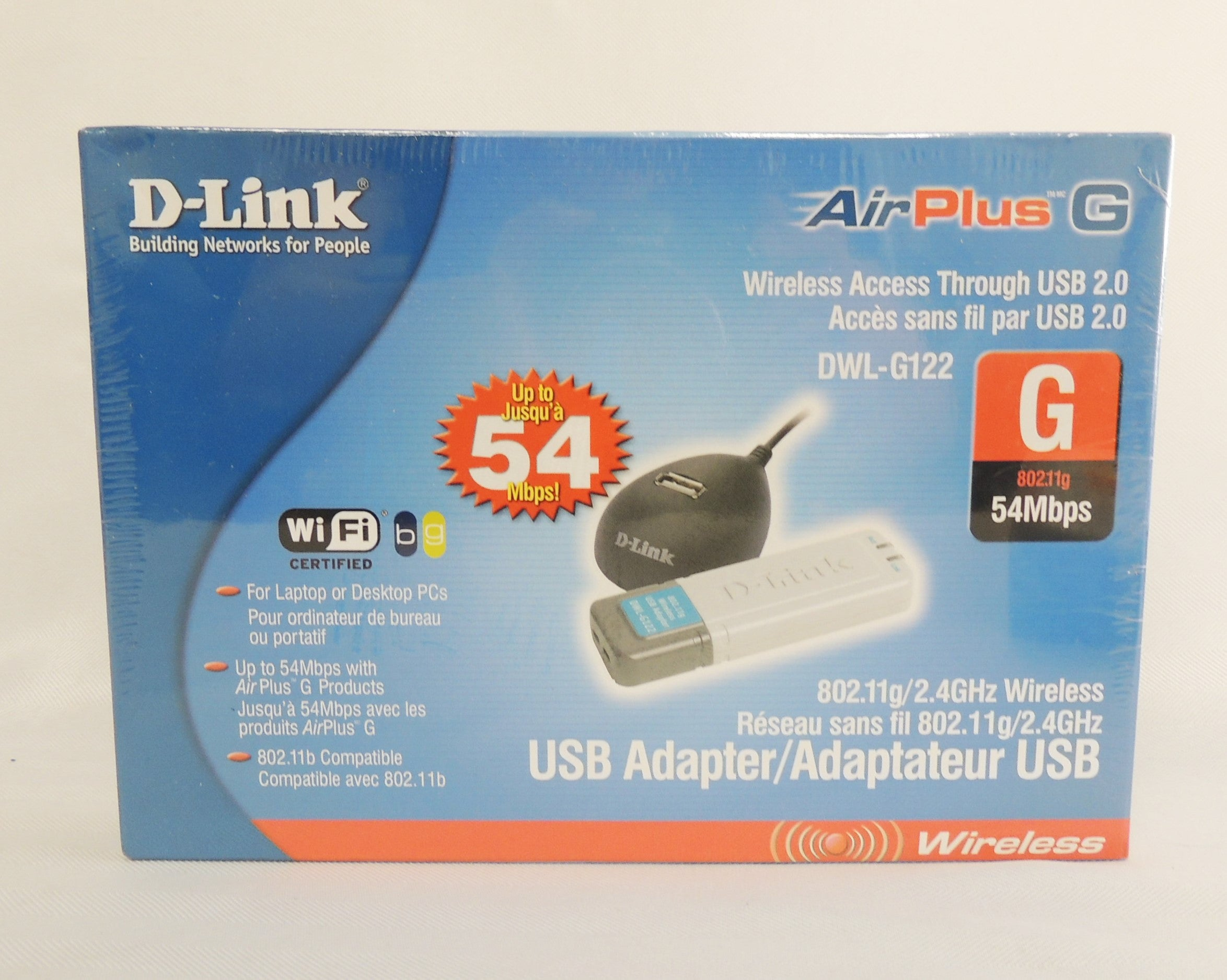 New sealed D-link AirPlus G DWL-G122 Wireless Adapter Wifi certified