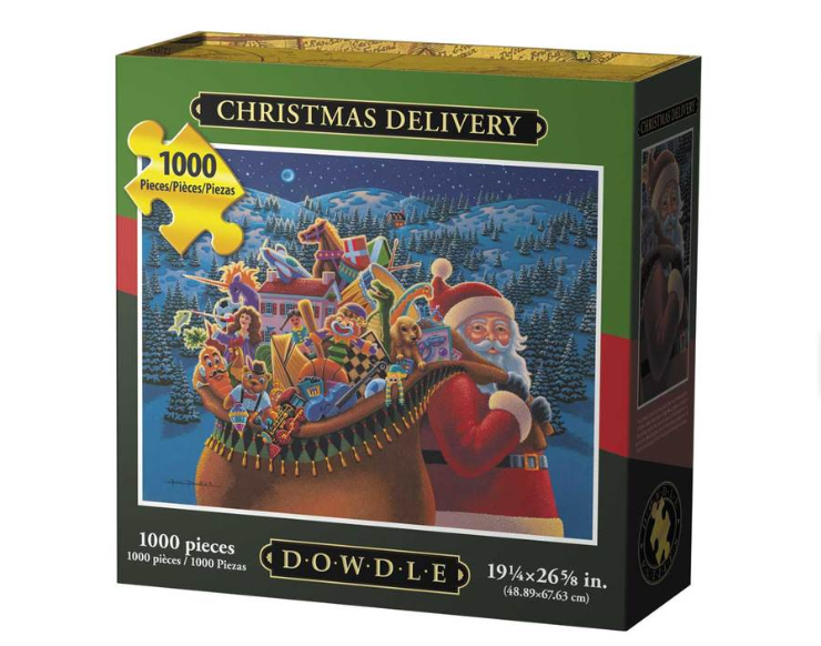 NEW, Christmas Delivery Jigsaw Puzzle 1000 Pc By Dowdle Folk Art