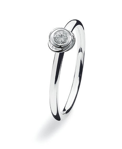 NEW Genuine Spinning Jewelry Stackable Silver Ring 120-00