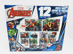 NEW Marvel Avengers 12 Puzzle Pack Cardinal Iron Man Hulk Captain America Stan Lee