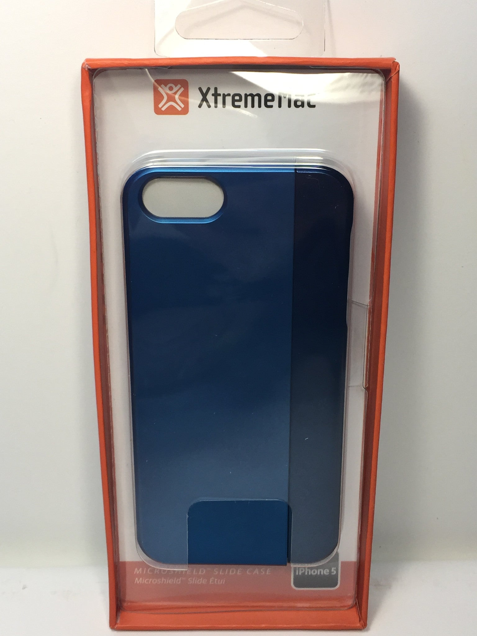 XtremeMac MicroShield Slide  Case For iPhone 5/5s - Monaco Blue/Metallic - IPP-MSS5-23 - LiquidationOutlet.ca