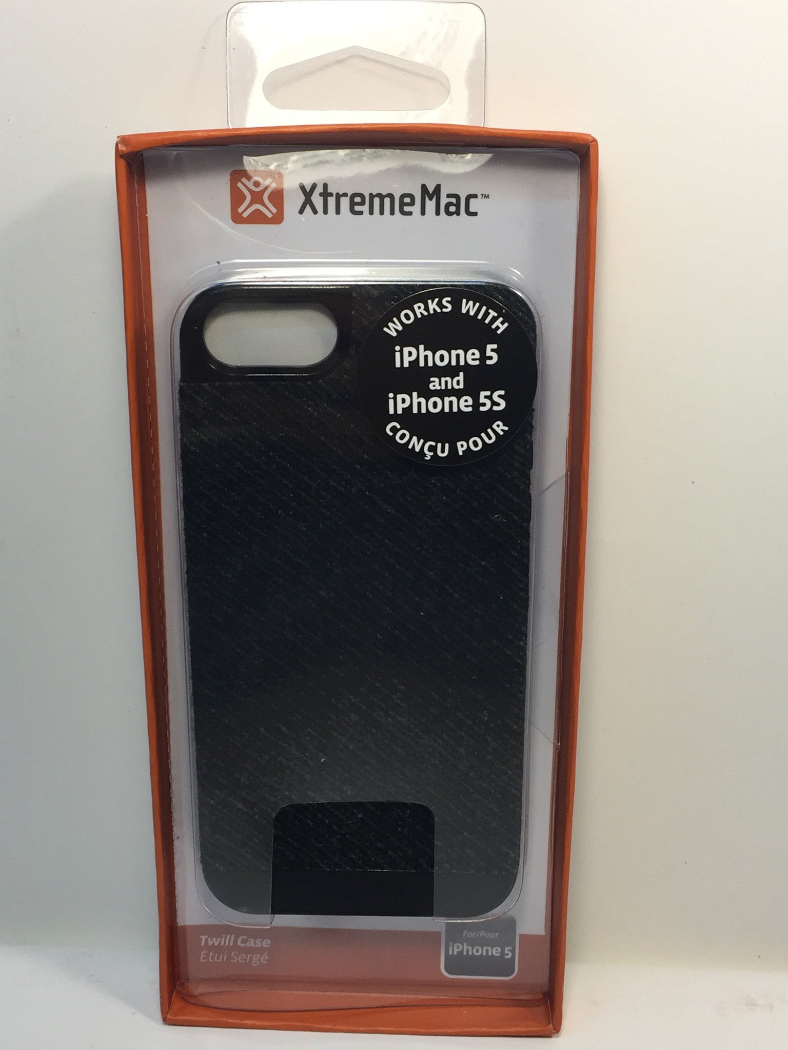 Xtrememac Microshield Style Case For Iphone 5/5s-  IPP-MSMW5-13- Grey Twill - LiquidationOutlet.ca