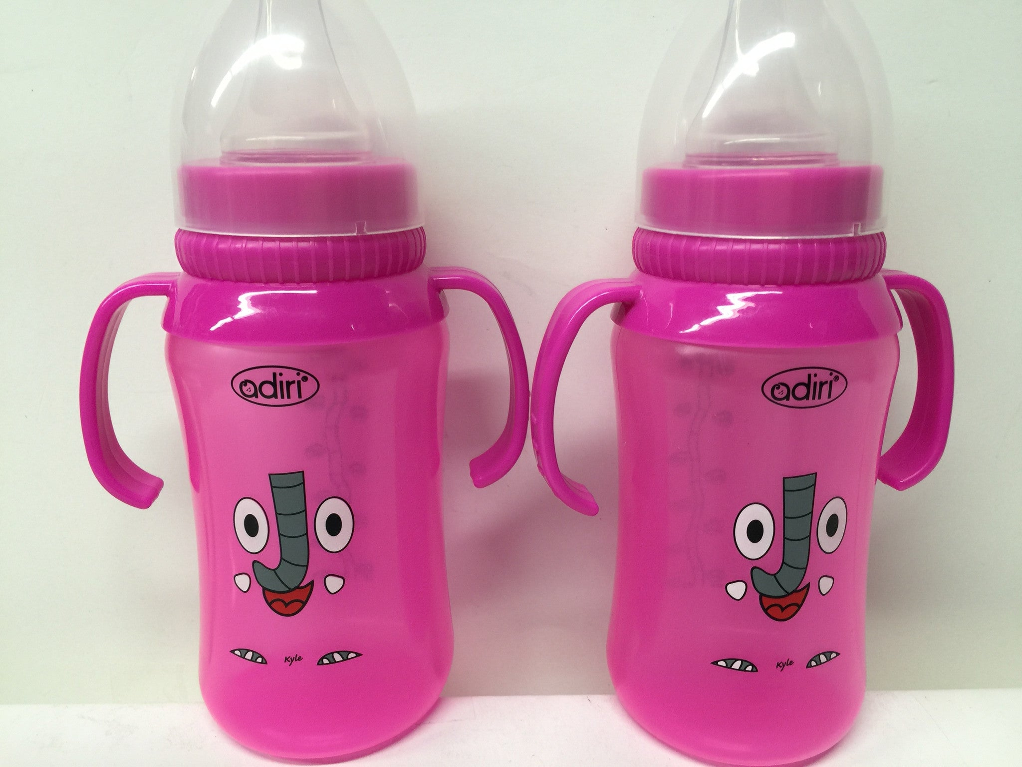 2 X Adiri Baby Bottle Sippy Cup BPA Free, 10 oz.- Pink - LiquidationOutlet.ca