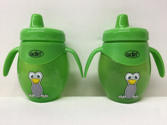 2 X Adiri Baby Trainer Sippy Bottle BPA Free 8.5 oz- Green - LiquidationOutlet.ca