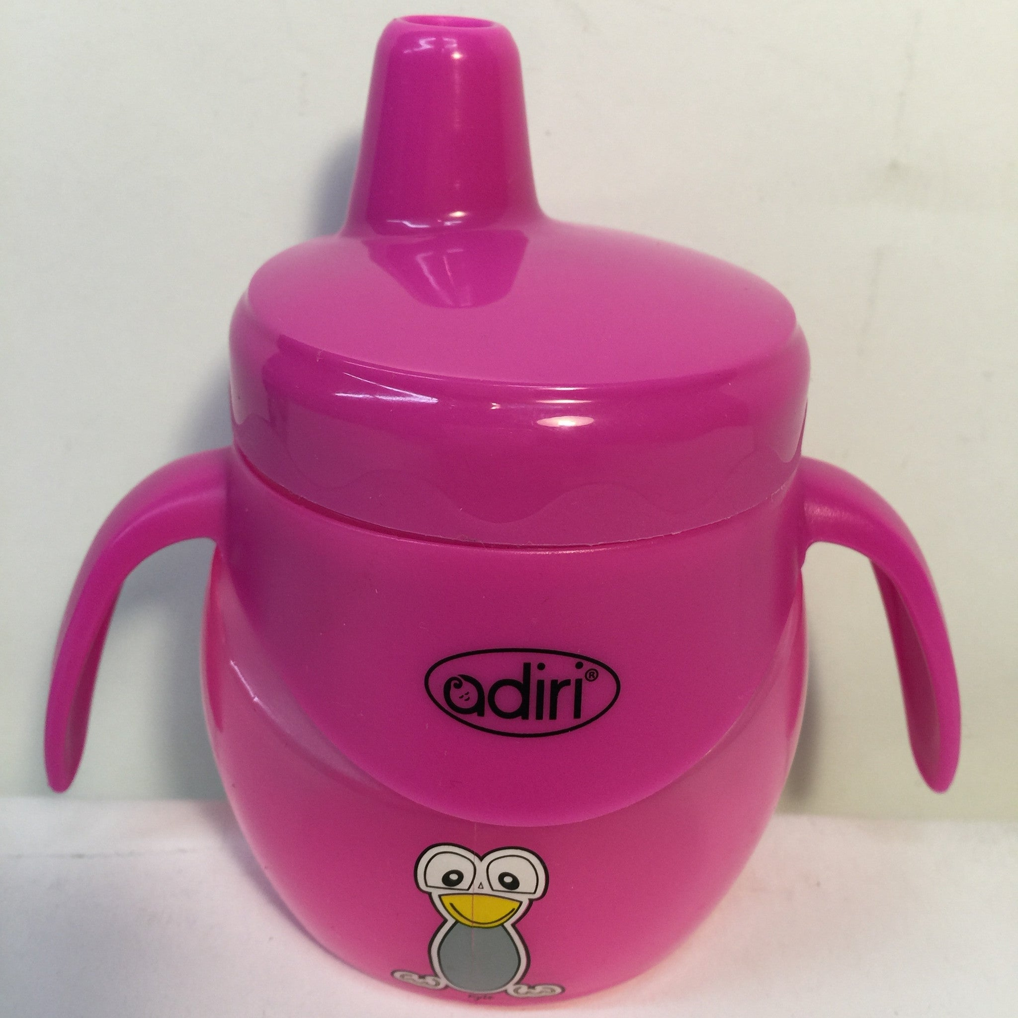 Adiri Baby Trainer Sippy Bottle BPA Free 6.8 oz- Pink - LiquidationOutlet.ca