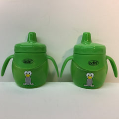 2 X Adiri Baby Trainer Sippy Bottle BPA Free 6.8 oz- Green - LiquidationOutlet.ca