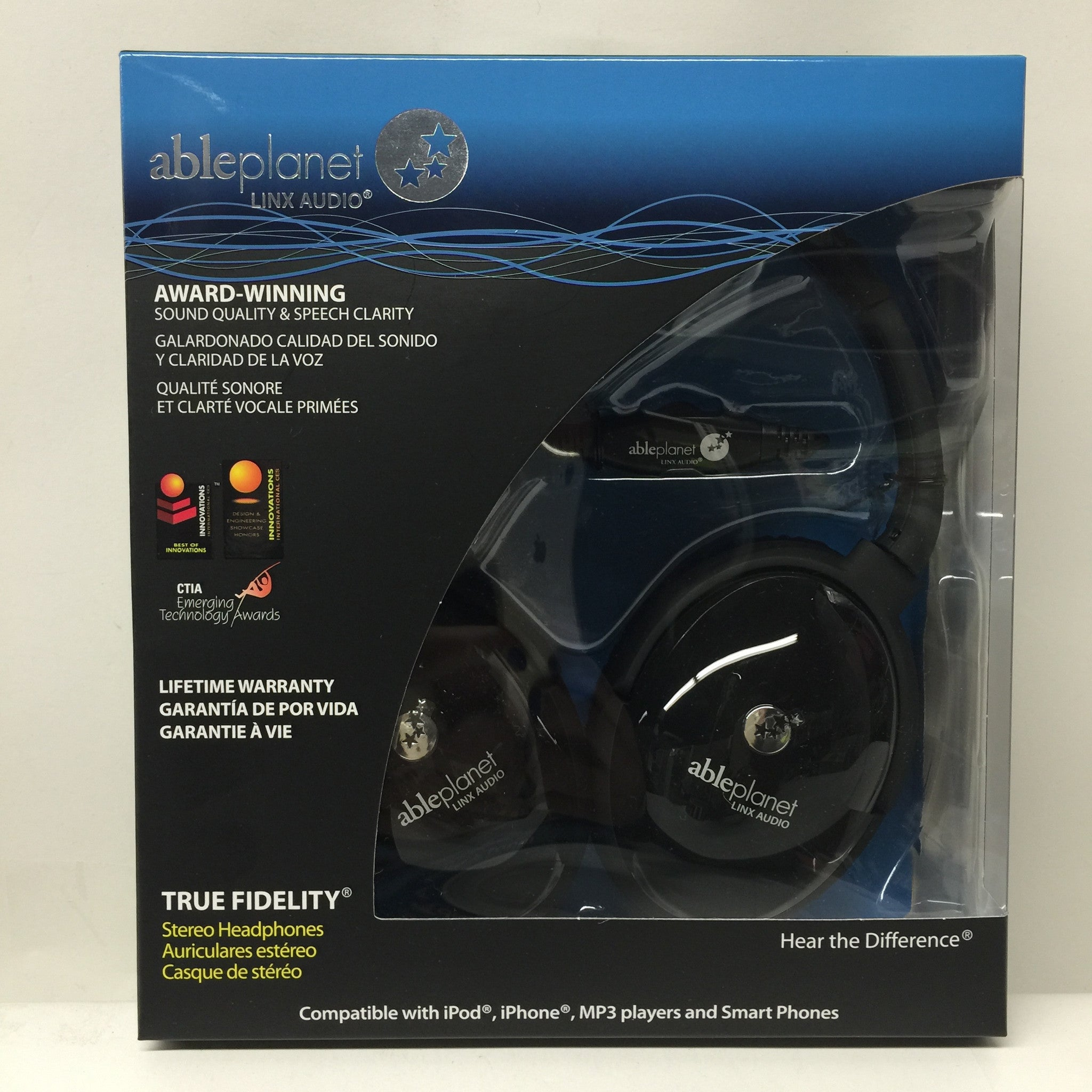 Able Planet True Fidelity PS400BG - On-Ear Stereo Headphones - LiquidationOutlet.ca