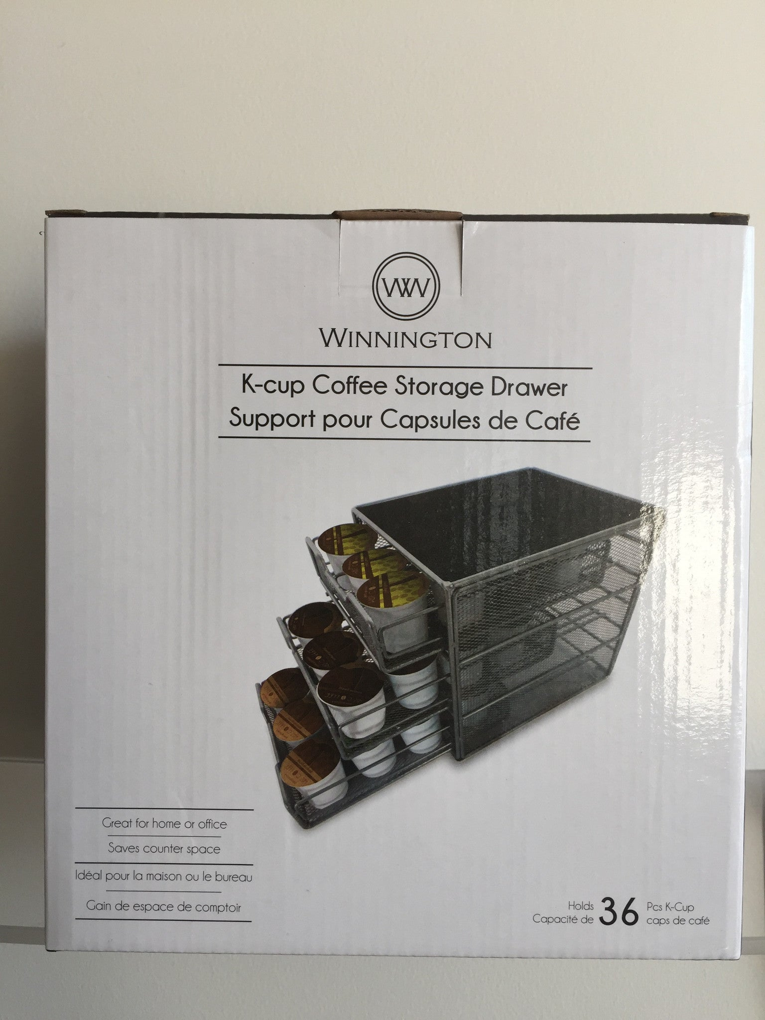 NEW, Winnington 36 K-cup Coffee Storage 3 Drawers - LiquidationOutlet.ca