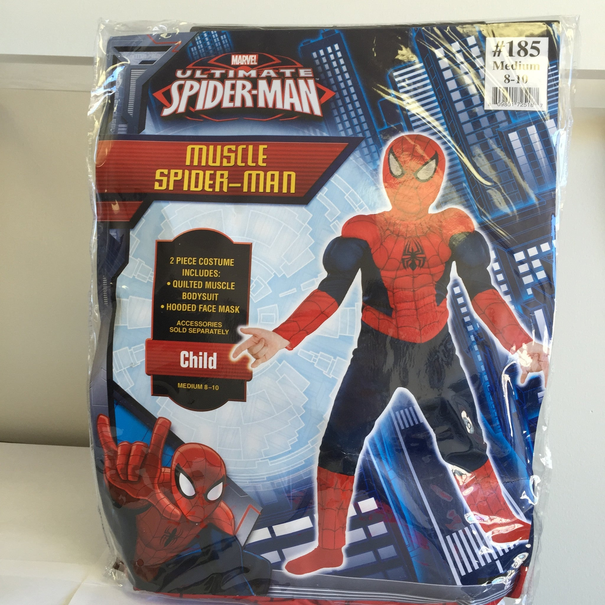 NEW, MArvel Ultimate Spiderman Muscle Halloween Child Costumes - LiquidationOutlet.ca
